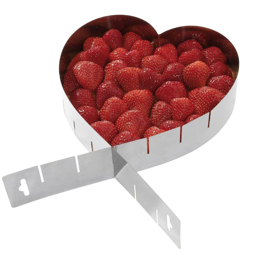 Nastaviteľná forma na koláč Heart
