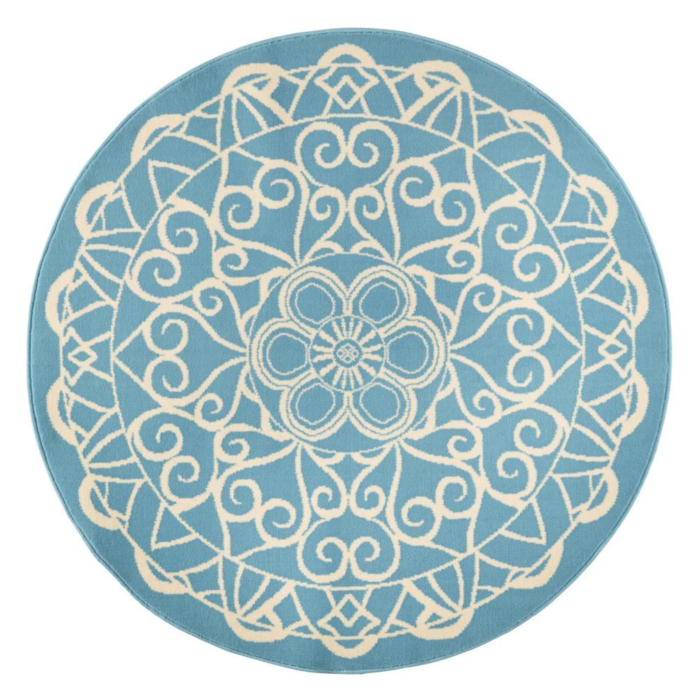 Modrý okrúhly koberec Zala Living Capri, ø 200cm