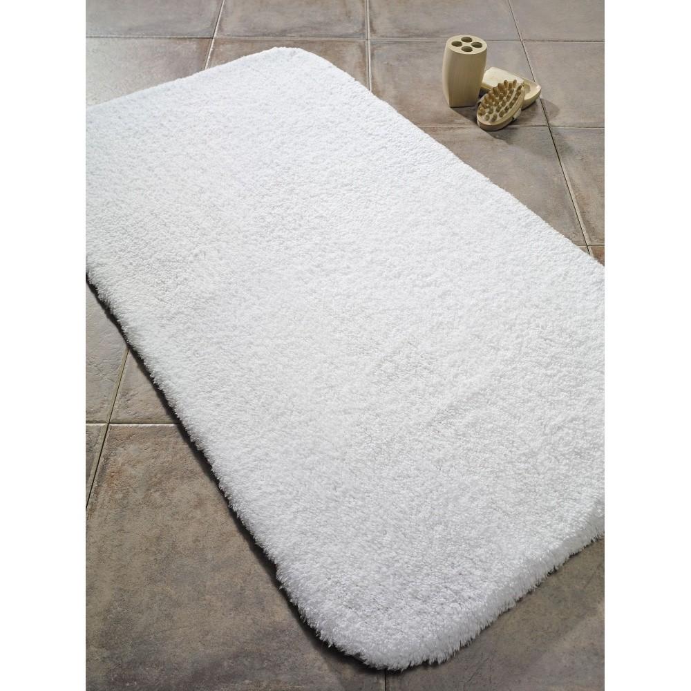 Biela predložka do kúpeľne Confetti Bathmats Organic, 50 x 80 cm