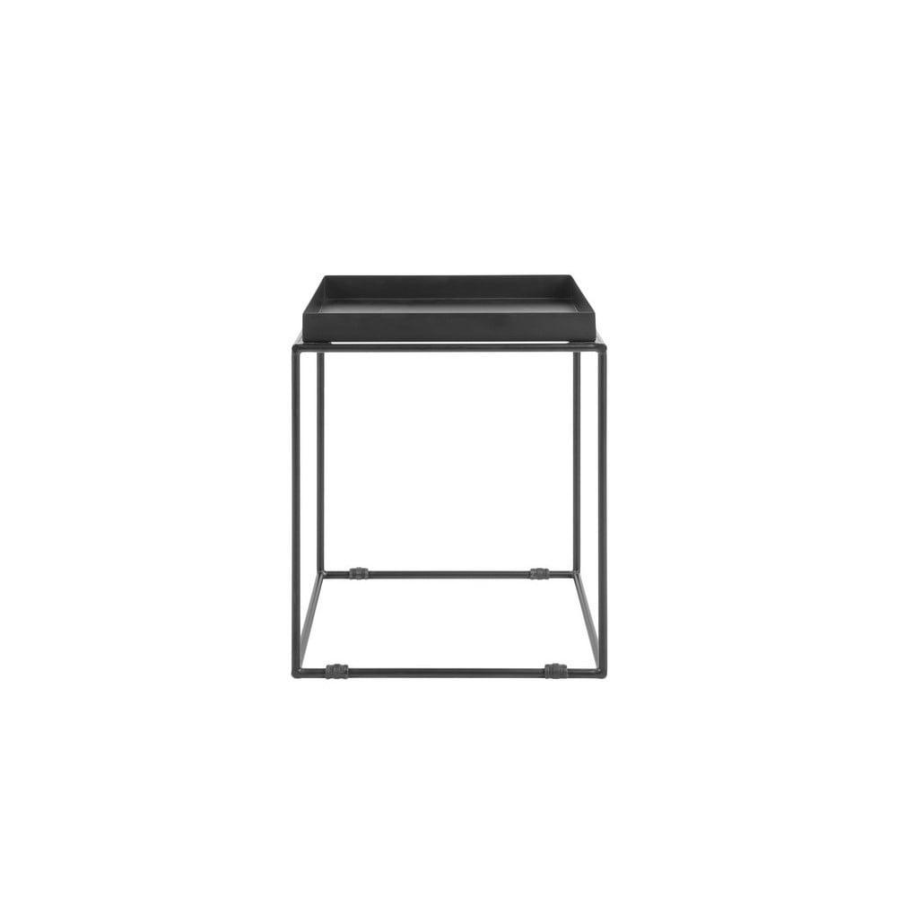 Čierny kovový odkladací stolík Monobeli Jane