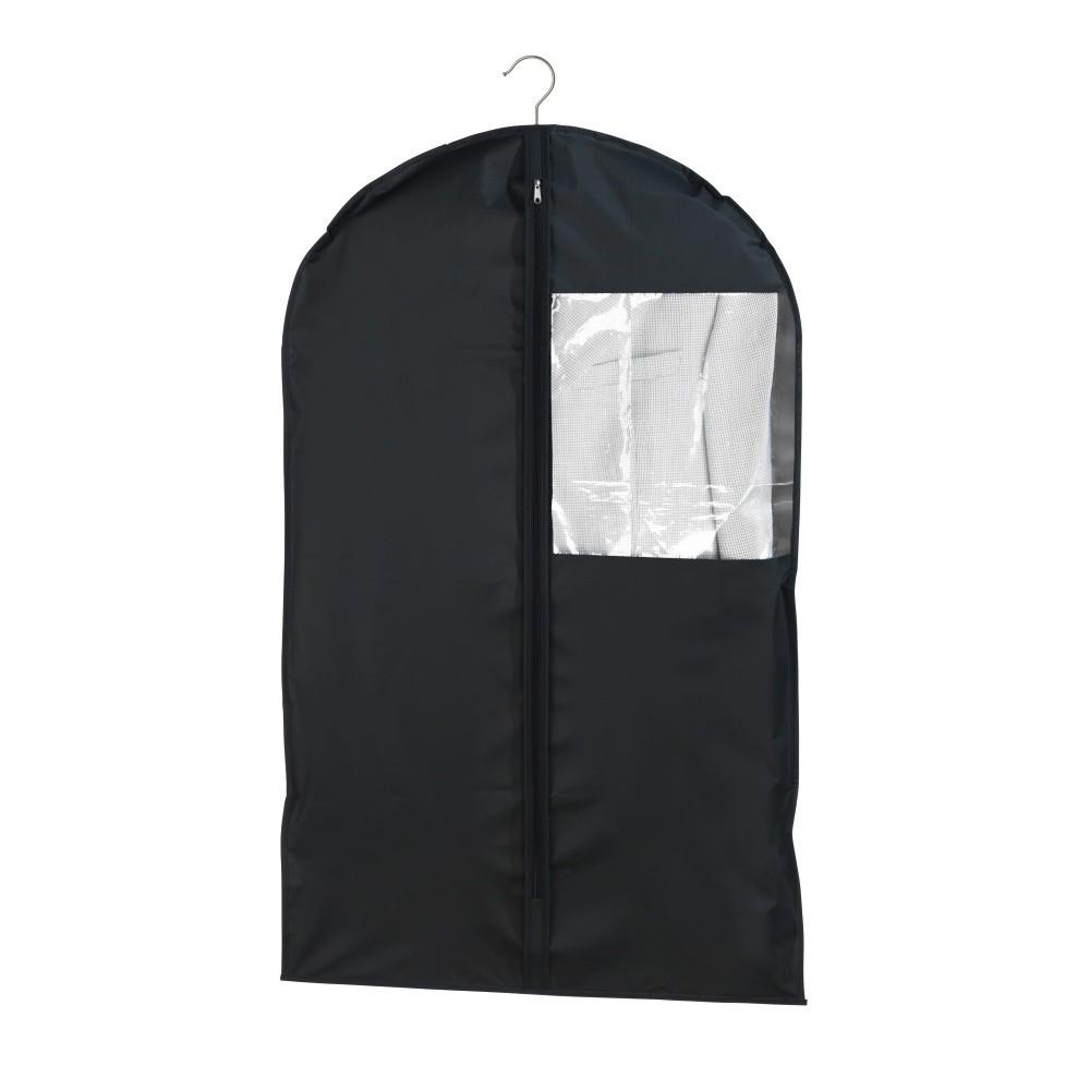 Čierny obal na oblek Wenko, 100x60cm