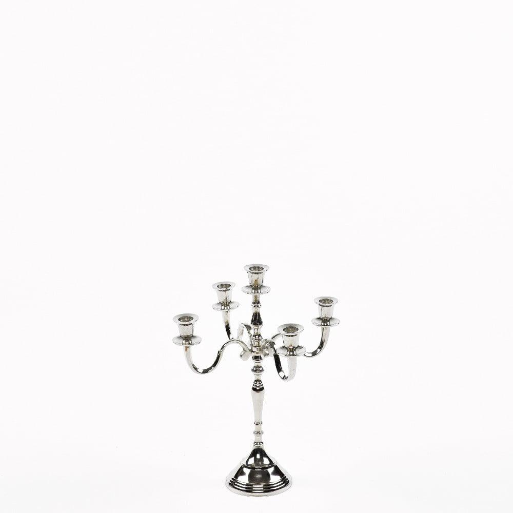 Svietnik v striebornej farbe so 4 ramenami Simla Nickel, výška 40 cm