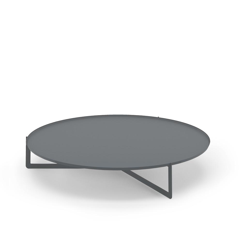 Sivý konferenčný stolík MEME Design Round, Ø 120 cm