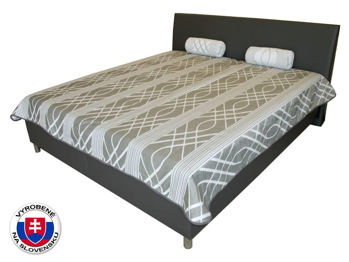 Manželská posteľ 180 cm Benab Mona Lucia šedá/Eko šedá (s roštami a matracmi DUO FLEX)