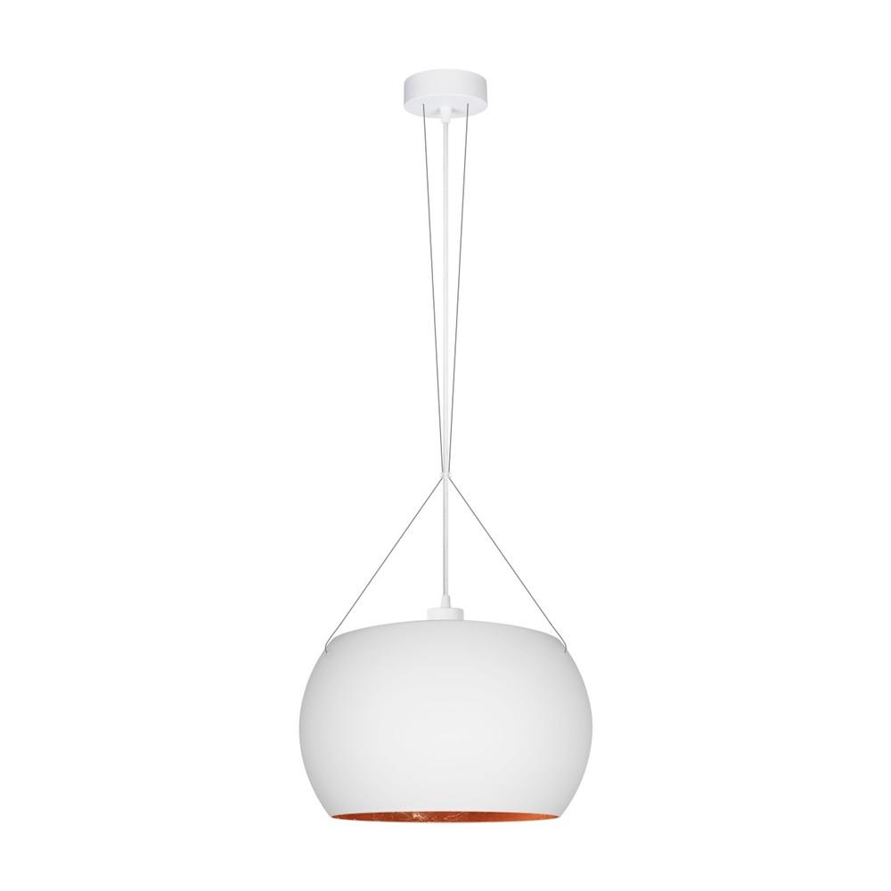 Bielo-medené závesné svietidlo s bielym káblom Sotto Luce Momo