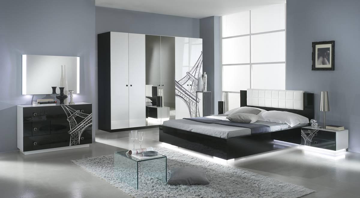 Spálňa VIVINA PARIS - čierna, biela