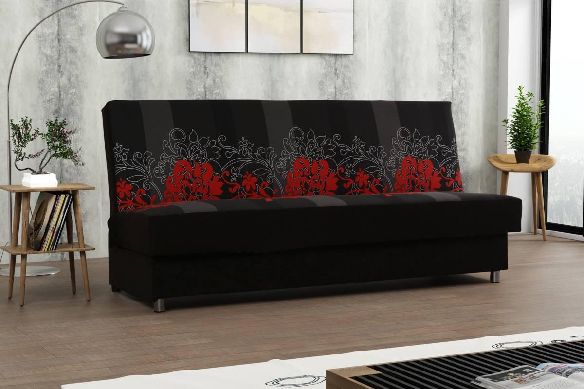 SAMBA rozkladacia pohovka, Kvety červené