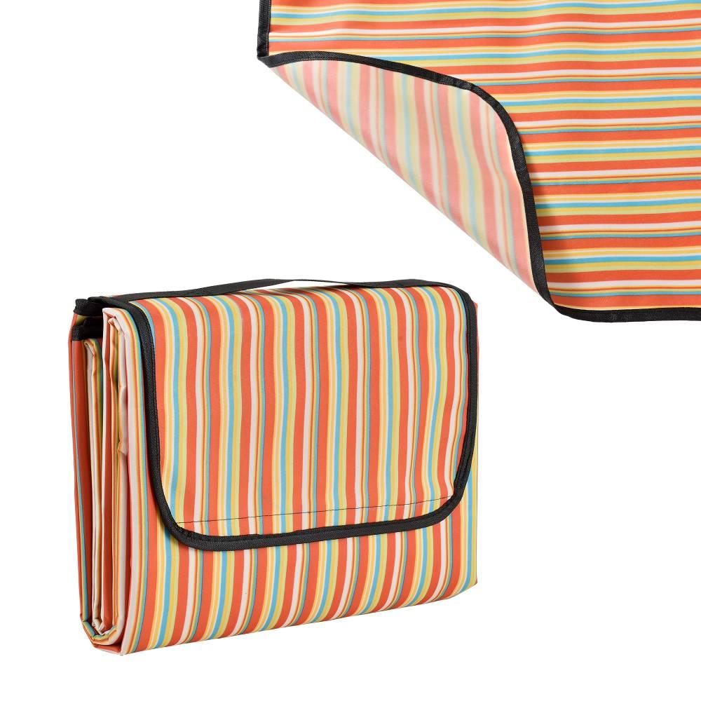[casa.pro]® Pikniková deka - červeno-žltá - 200 x 190cm