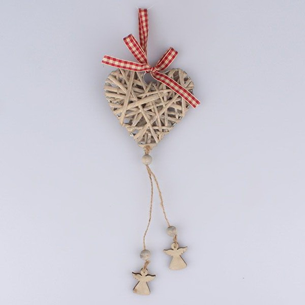Ratanové závesné dekoratívne srdce Dakls Angel