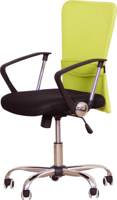 Kancelárske kreslo, s čiernym sedákom, zelená opierka, AEX