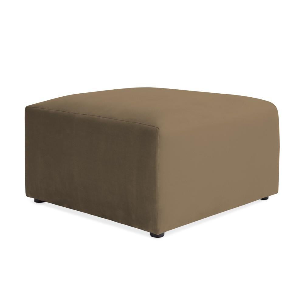 Hnedosivá podnožka Vivonita Velvet Cube