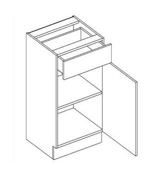 D40/S1 dolná skrinka so zásuvkou MOREEN, andersen/dub lefkas