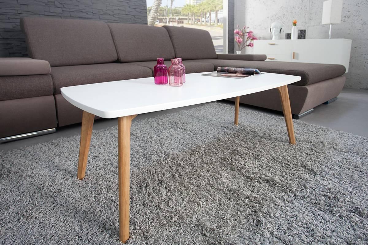 Konferenčný stolík SCANIA MEISTER 110cm - biela
