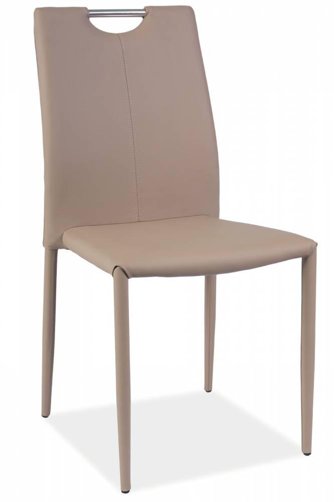 Jedálenská stolička H-322 (ekokoža tmavobéžová)