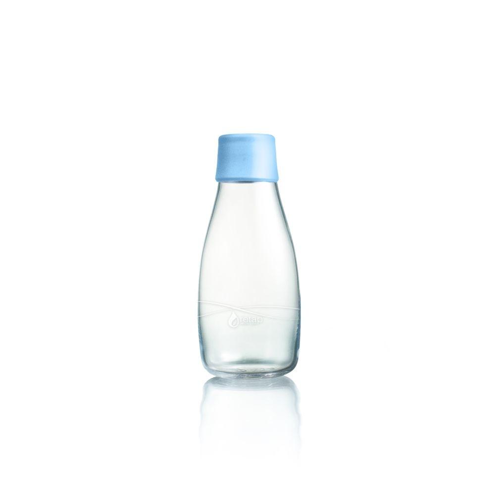 Pastelovomodrá sklenená fľaša ReTap s doživotnou zárukou, 300ml