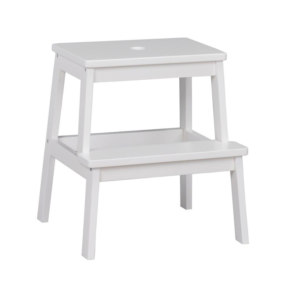Biela dubová stolička / schodíky Folke Gorgona