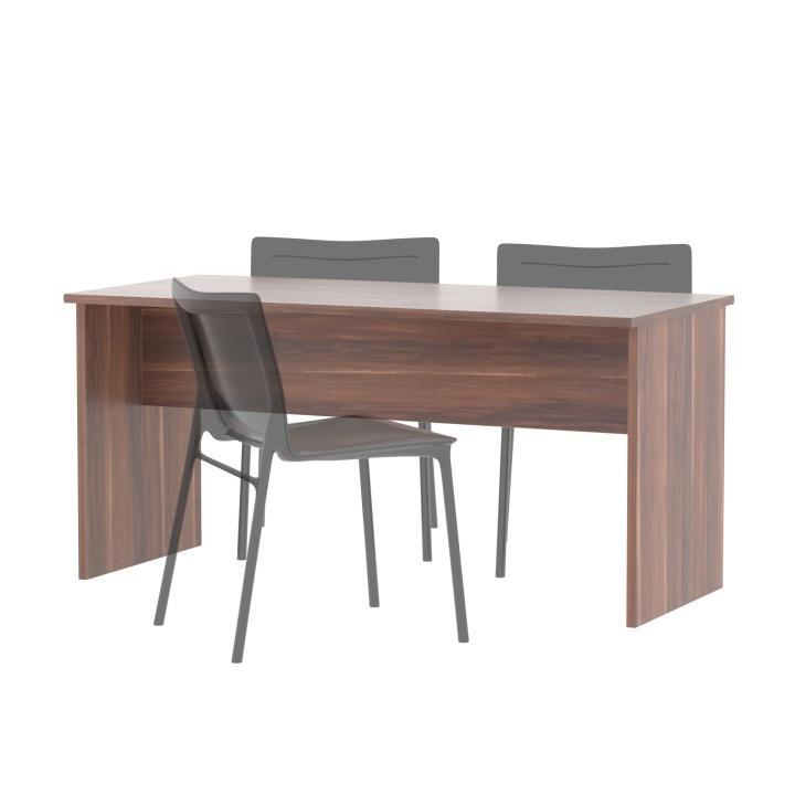 TEMPO KONDELA Obojstranný stôl, slivka, JOHAN NEW 08