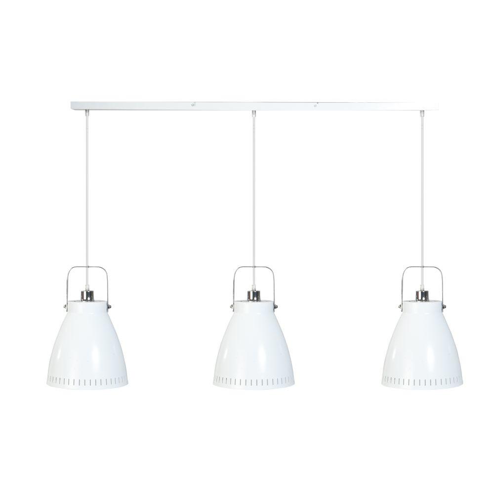 Biele trojité stropné svietidlo ETH Acate