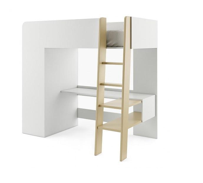 TIMOTEJ poschodová posteľ, biela/congo