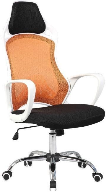 Kancelárska stolička, biela/oranžová, ARIO