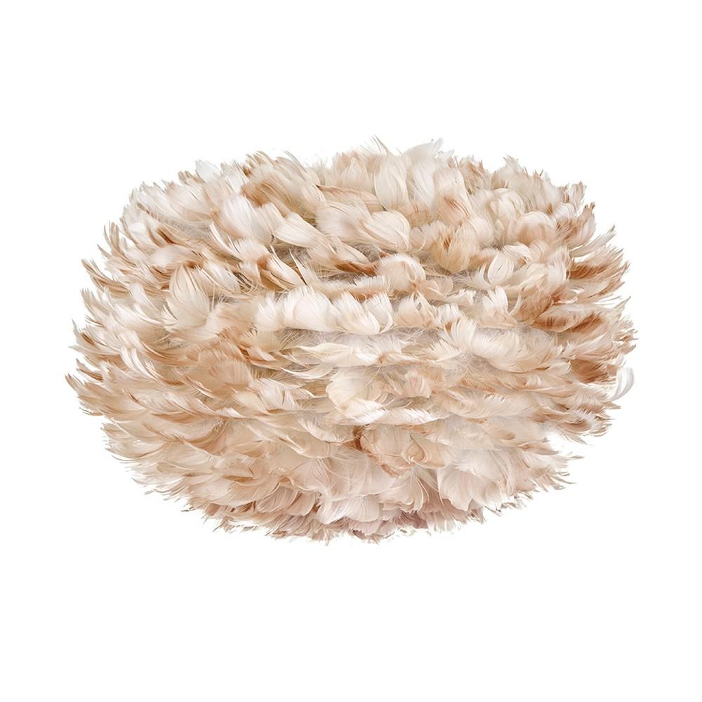 Krémové svietidlo z husieho peria EOS, Ø 30 cm
