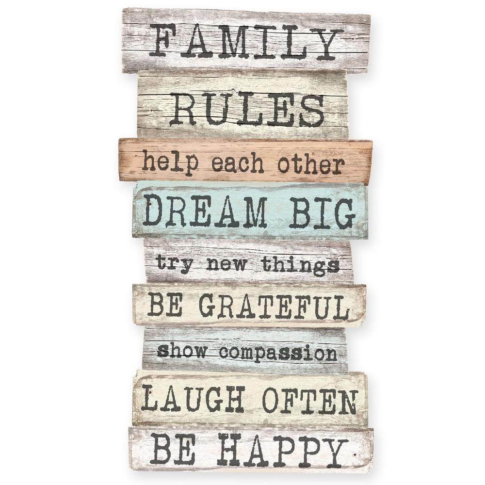 Nástenná ceduľa Really Nice Things Family Rules