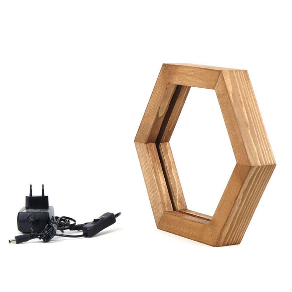 Drevené stolové svietidlo Honeybee