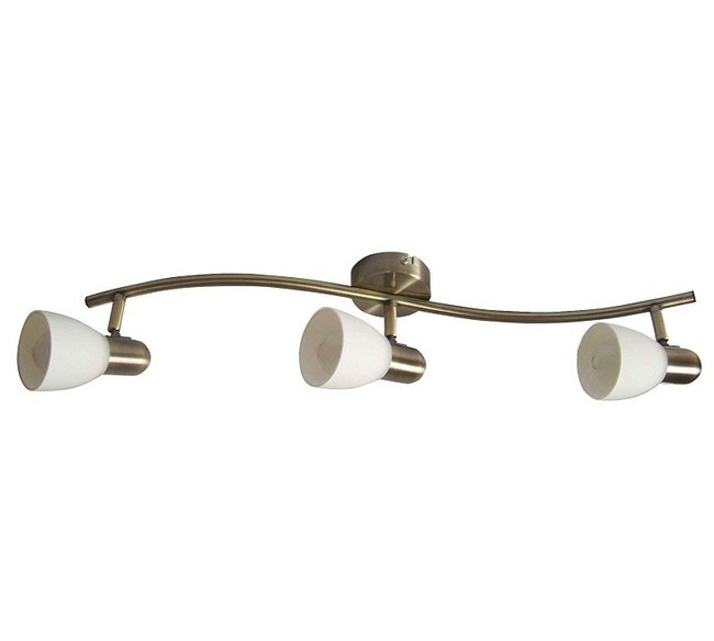 Nástenné svietidlo Rabalux Soma 6308 bronzová / biela, 3 svetla