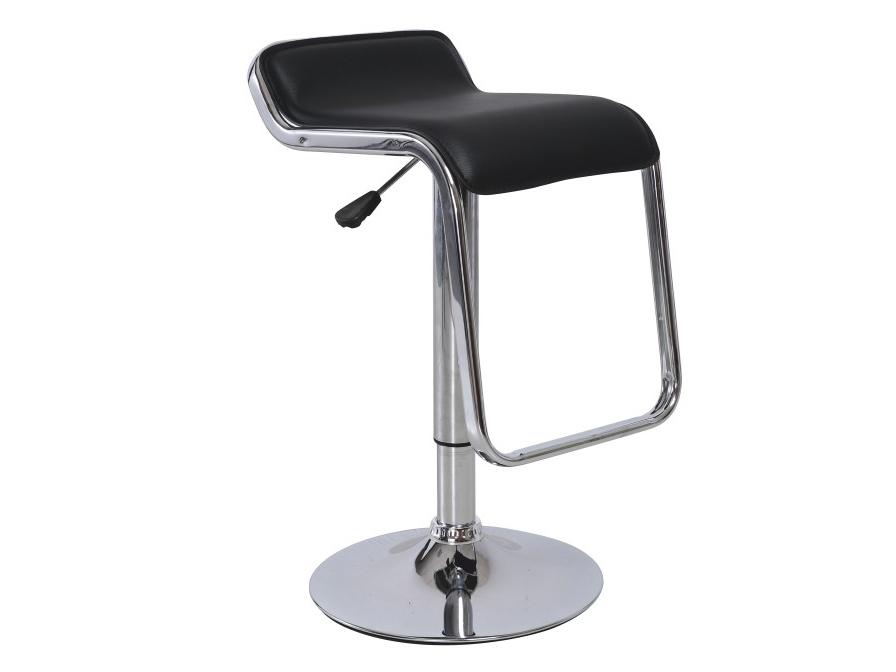 Barová stolička Ilana (čierna + chróm)