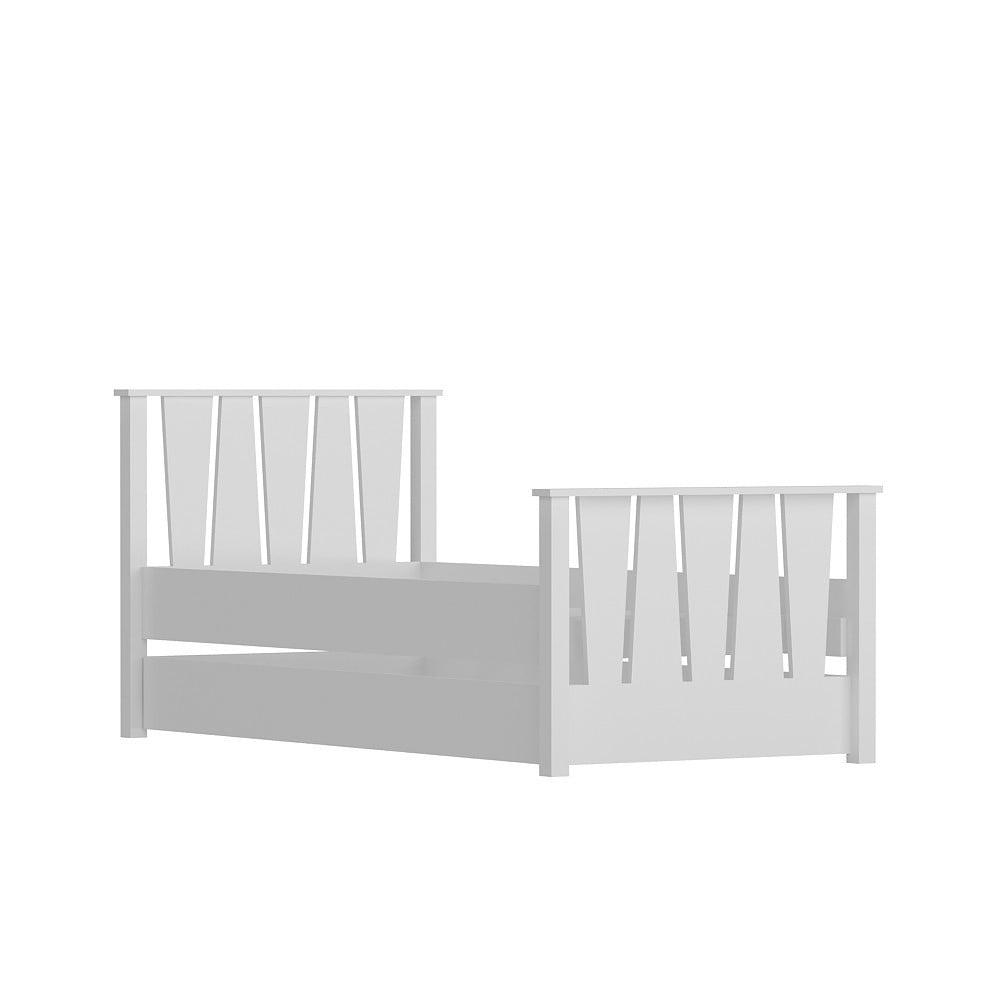 Biela jednolôžková posteľ Nobe White, 104×201 cm
