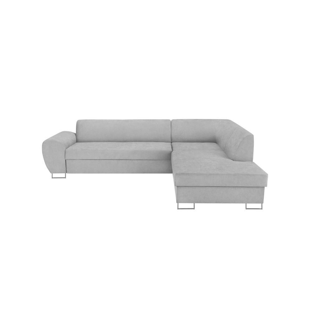 Sivá rohová rozkladacia pohovka s úložným priestorom Kooko Home XL Right Corner Sofa