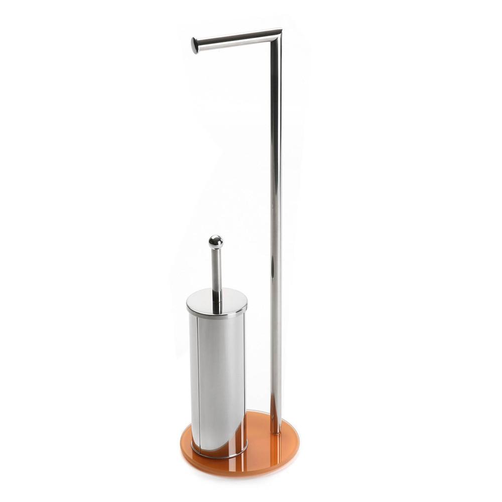 319979ba0 Set držiaka na toaletný papier a štetky na záchod Versa Double Orange,  výška 70,