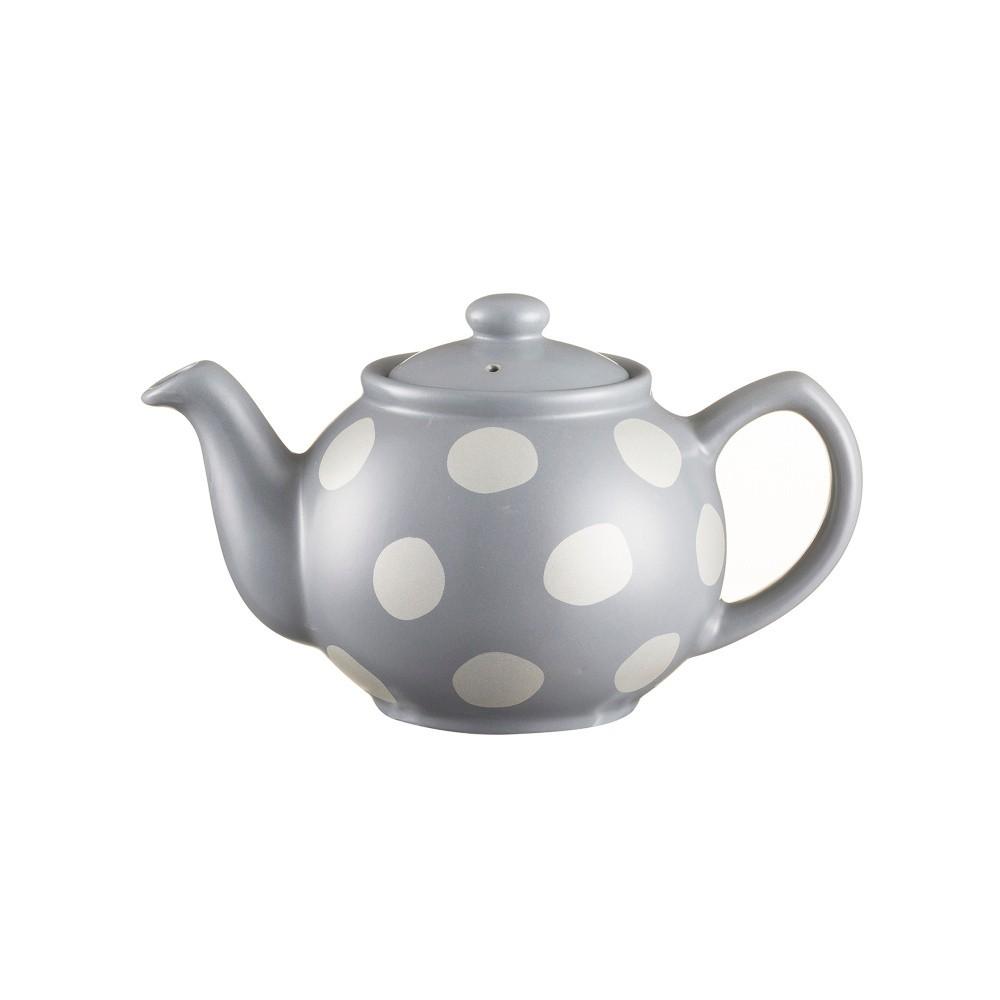 Sivá čajová kanvica s bodkami z kameniny Price&Kensington Gold Spot, 400 ml