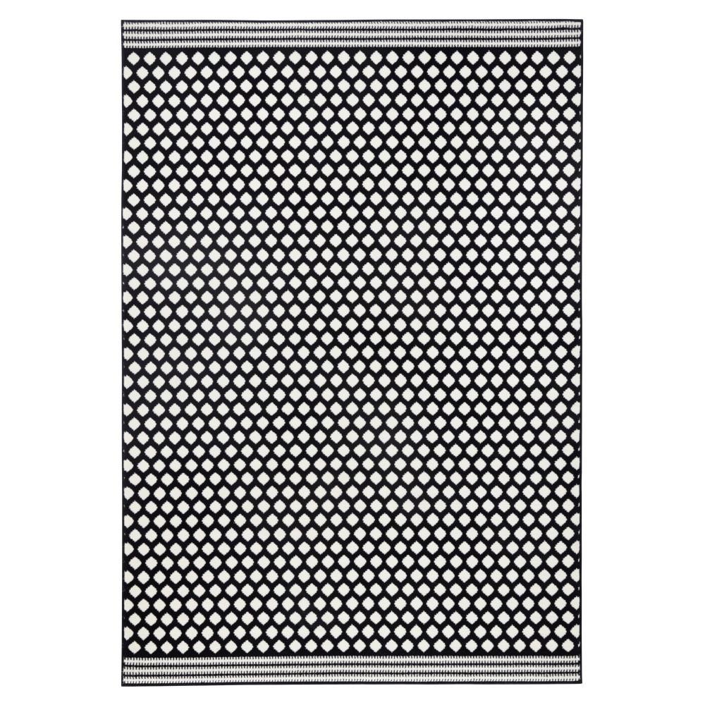 Čierno-biely koberec Hanse Home Spot, 70x140cm