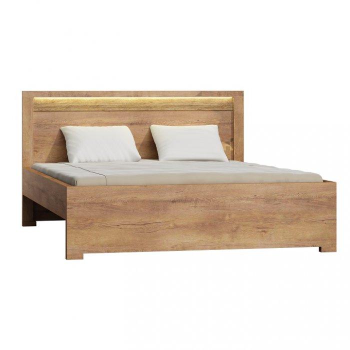 TEMPO KONDELA INFINITY 19 160 manželská posteľ - jaseň svetlý
