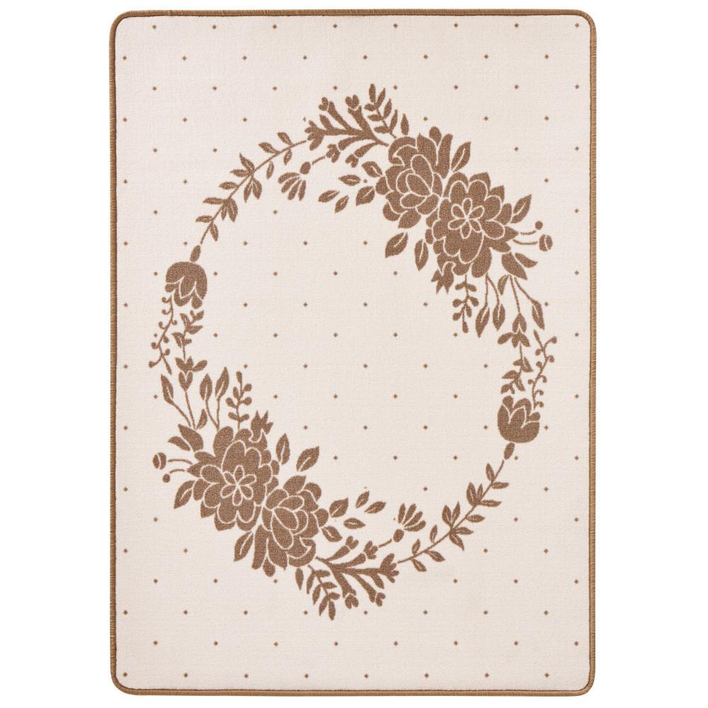 Detský béžový koberec Zala Living Luna Floral, 100x140cm