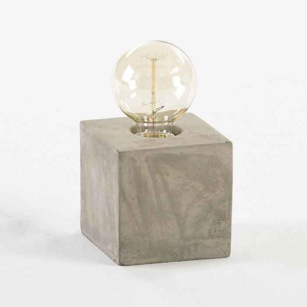Cementová stolová lampa Thai Natura Marnix