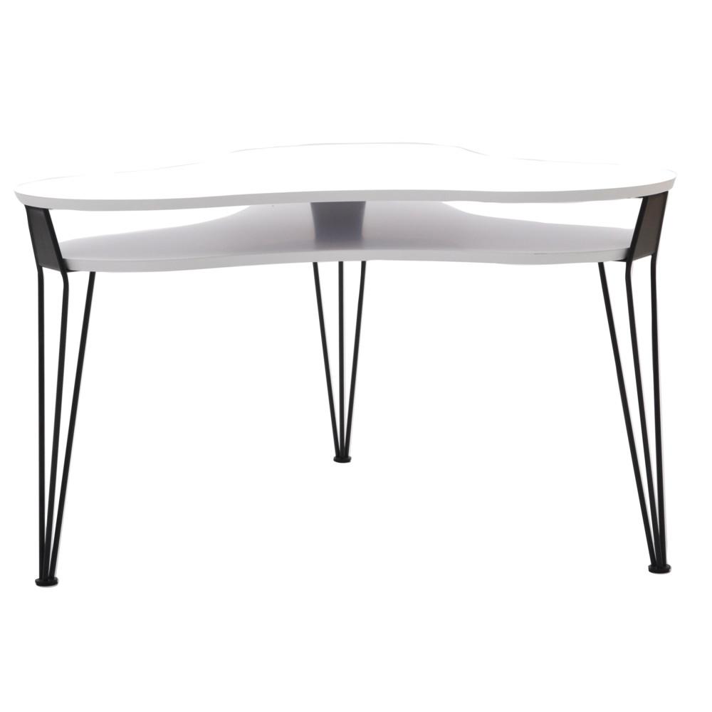 Biely konferenčný stolík s čiernymi nohami RGE Ester