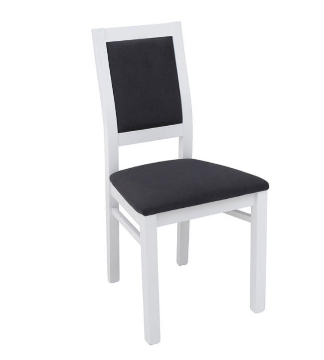 Stolička Porto   Farba: Biely mat/ čierna látka