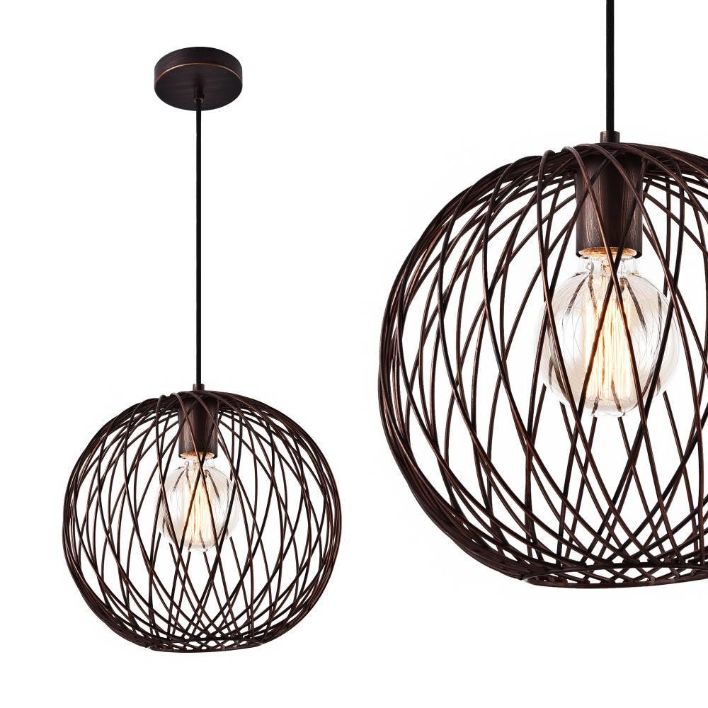 [lux.pro]® Dekoratívna dizajnová design závesná lampa / stropná lampa - bronz (1 x E27)