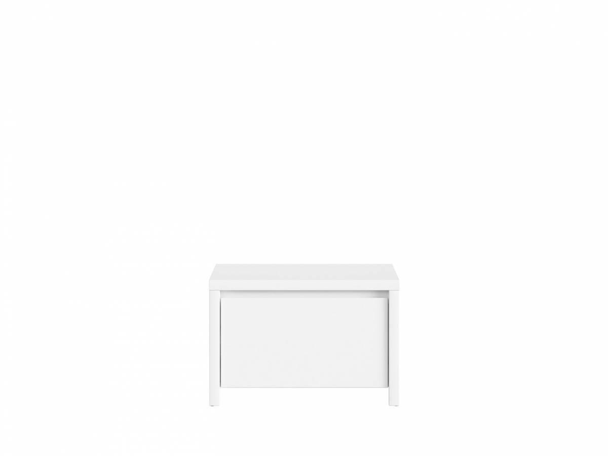 Botník (skrinka na topánky) Kaspian SBUT/60 (biela + biela matná)