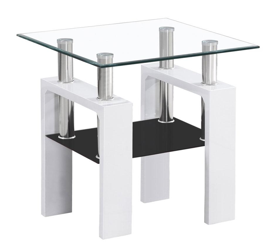 Konferenčný stolík LISA D, biely lesk