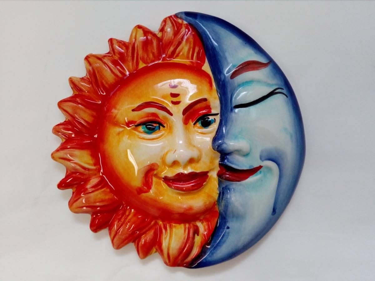 ECLISSE keramické slnko/mesiac BR