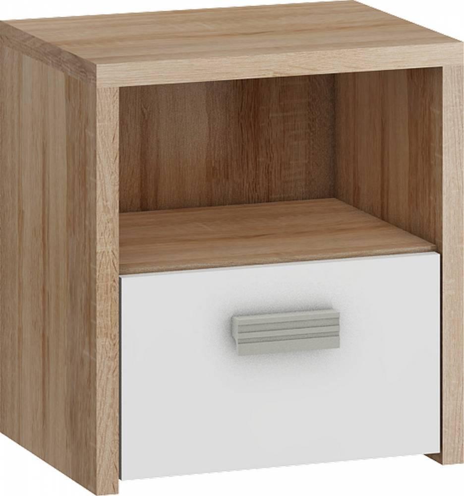 WIP KITTY KIT-12 nočný stolík - sonoma svetlá / biela