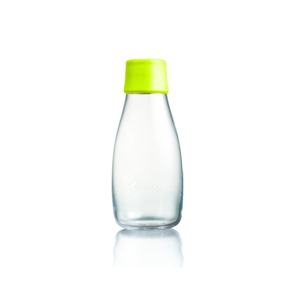 Limetková sklenená fľaša ReTap s doživotnou zárukou, 300ml