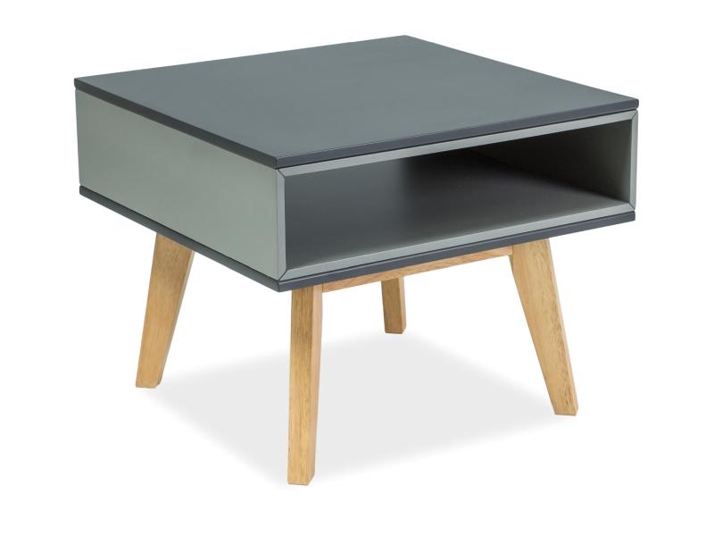 MORA konferenčný stolík 60x60 cm, dub/grafit