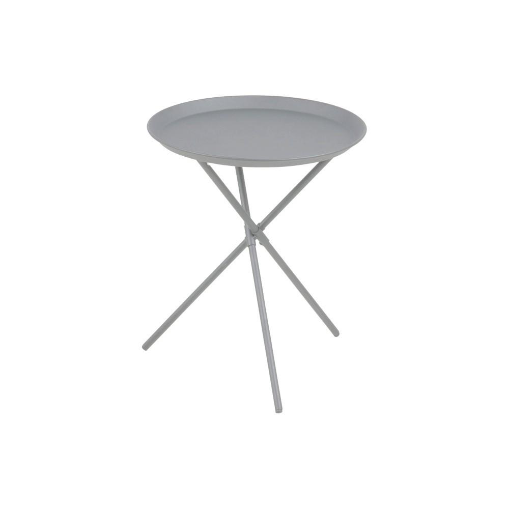 Sivý odkladací stolík Actona Clipston