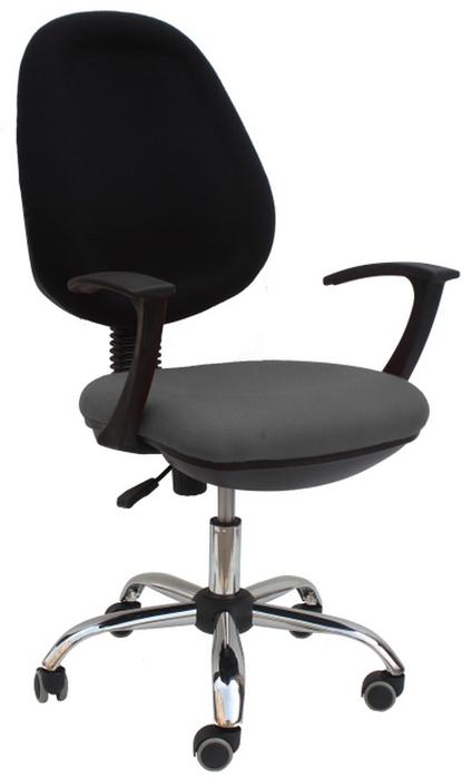 Kancelárska stolička Boban 802 sivá + čierna (s podrúčkami)