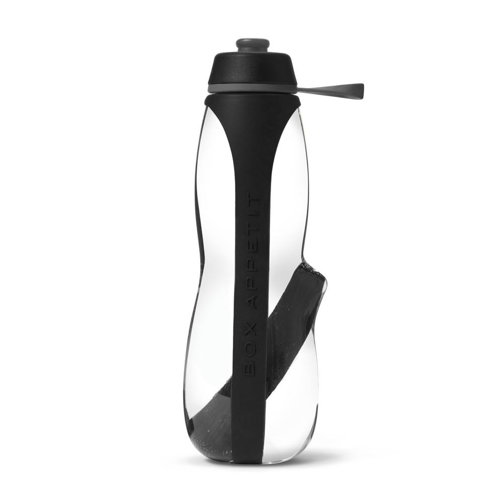 Červená športová filtračná fľaša s binchotanom Black+Blum Eau Good Duo, 700ml