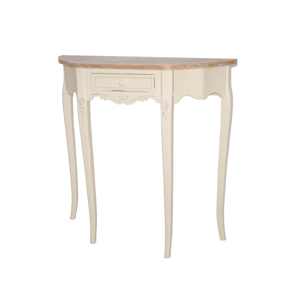 Krémový konzolový stolík z topoľového dreva Livin Hill Rimini